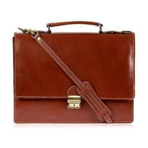 Hnedá kožená pánska taška cez rameno Italia in Progress Raffaello