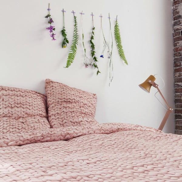 Ružové bavlnené obliečky Snurk Dusty, 140x200cm