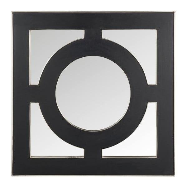 Nástenné zrkadlo Circle 93x93 cm, čierne