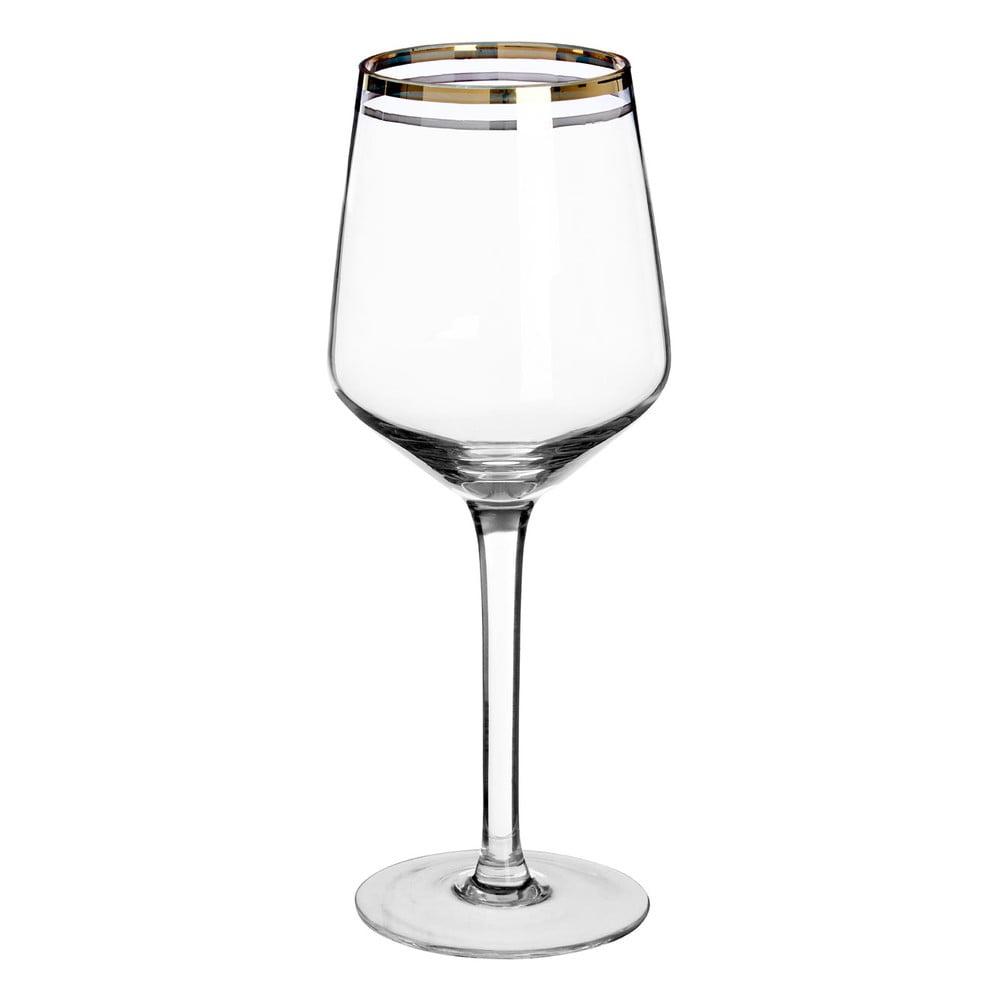 Sada 4 pohárov na víno z ručne fúkaného skla Premier Housewares Charleston, 4,3 dl
