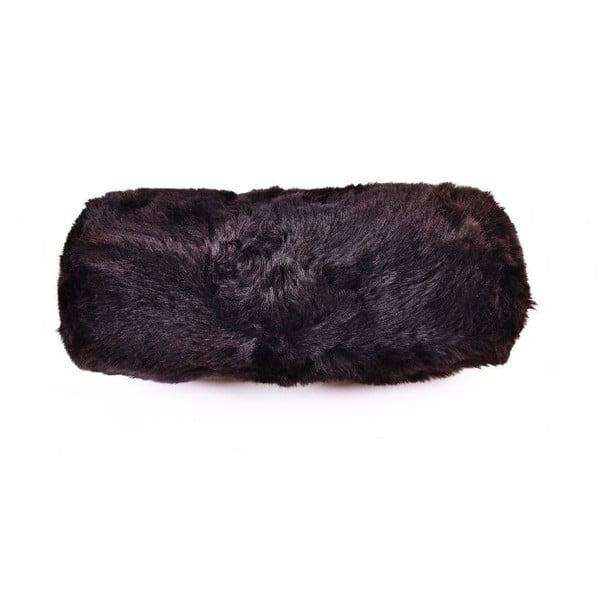 Kožušinový podhlavník Blacky, 20x50 cm