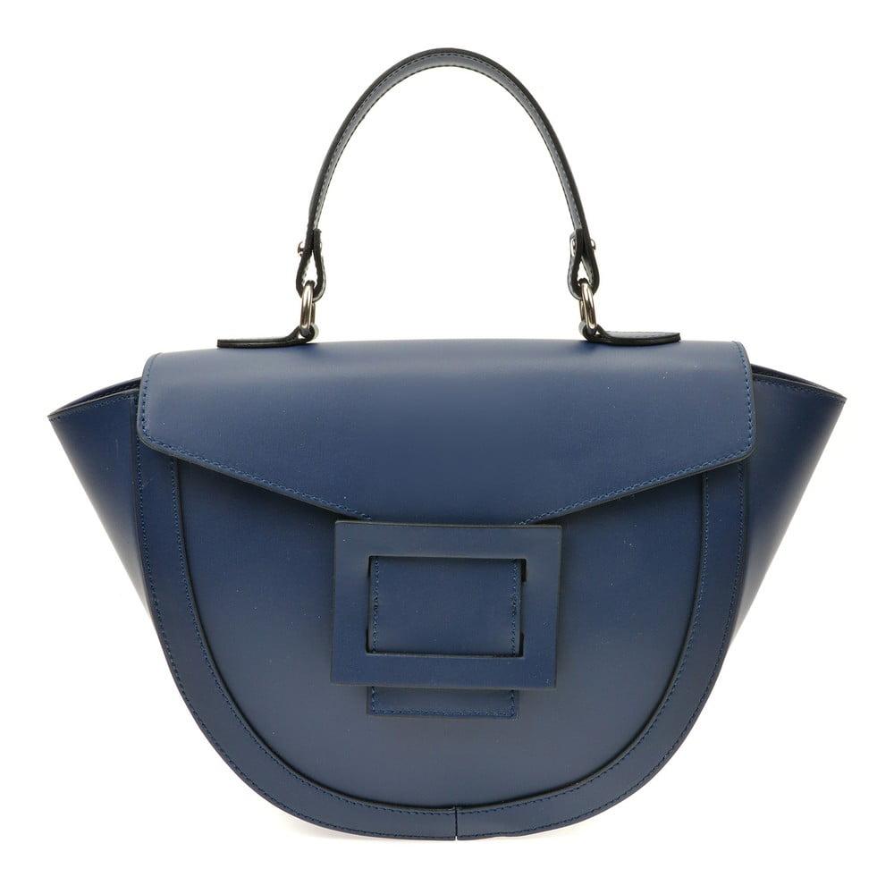 Modrá kožená kabelka Luisa Vannini Luna