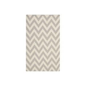 Vlnený koberec Nellaj 76x182 cm, sivý
