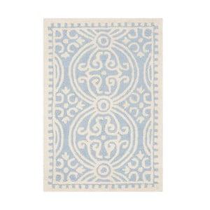 Vlnený koberec Marina Blue, 91x152 cm