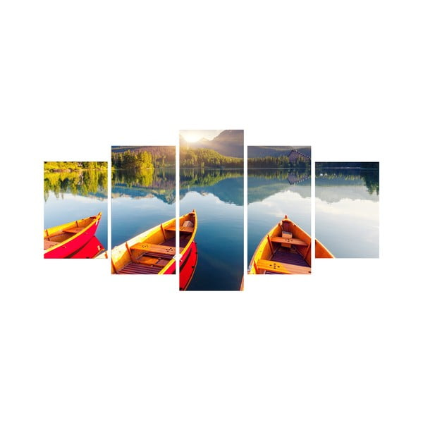 5dielny obraz Na loďke