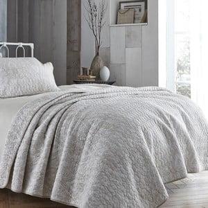 Svetlobéžová prikrývka cez posteľ Bianca Simplicity, 200 x 200 cm