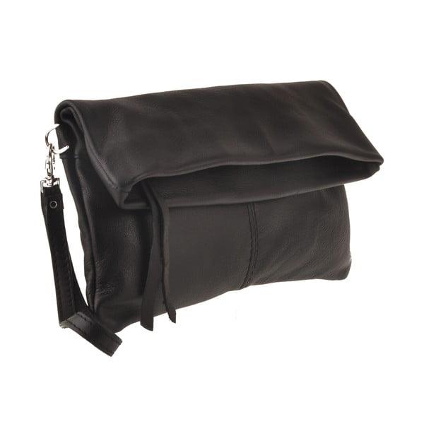 Kožená kabelka Castor, čierna