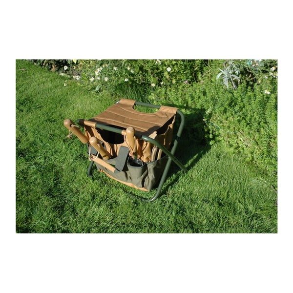Skladacia stolička s úložným priestorom Esschert Design Pond