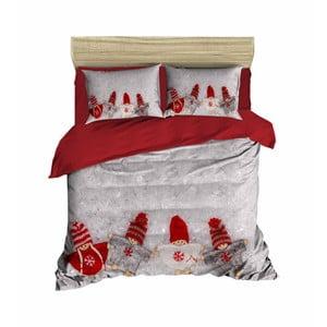 Vianočné obliečky na dvojlôžko s plachtou Ricardo, 160×220 cm