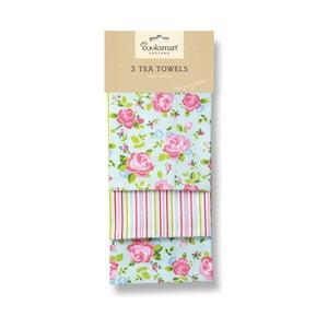 Sada 3 bavlnených utierok Cooksmart England Florals
