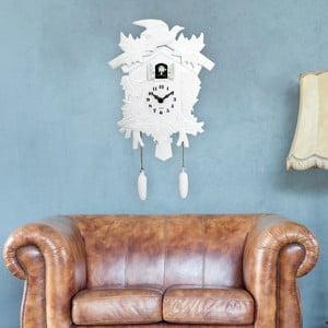 Biele nástenné kukučkové hodiny Walplus Cuckoo