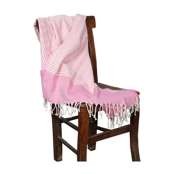 Ružová hammam osuška Yummy Pink, 90x190cm