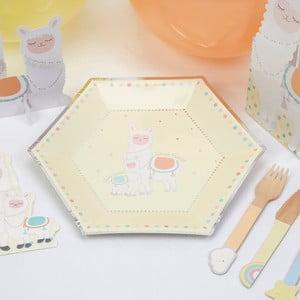 Sada 8 papierových tanierov Neviti Llama Love