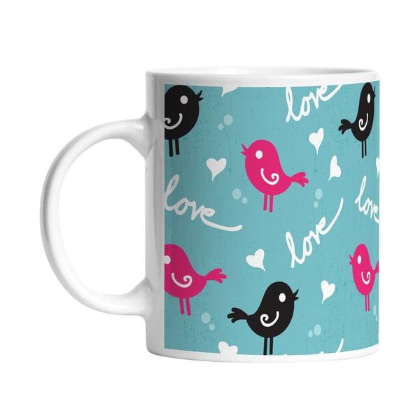 Keramický hrnček Bird Love, 330 ml