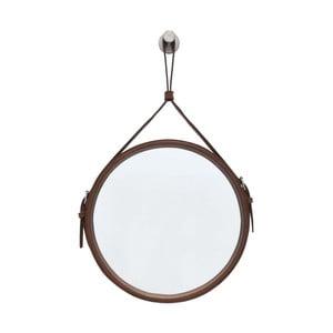 Závesné zrkadlo v hnedom ráme RGE Elvis, ø 30 cm