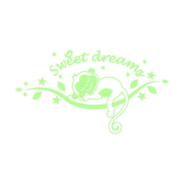 Samolepka svietiaca v tme MaDéco Monkeys Sweet Dreams