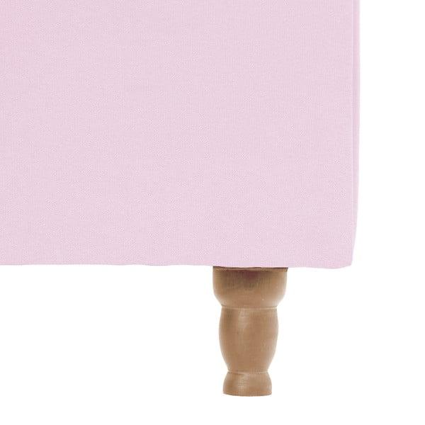 Pastelovoružová posteľ VIVONITA Allon 180x200cm, prírodné nohy