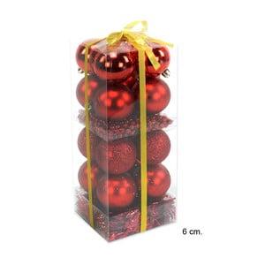 Set 16 vianočných ozdôb a girlandy v červenej farbe Unimasa Brightness