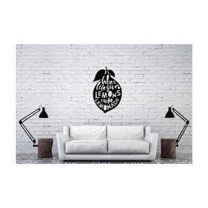 Čierna nástenná dekorácia Oyo Concept Lemons, 60×50 cm
