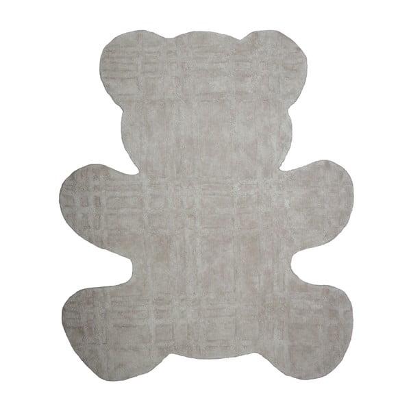 Detský sivý koberec Teddy, 100x120cm