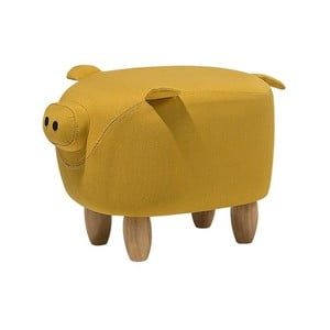 Žltá podnožka v tvare prasiatka Monobeli Pig, 32 x 50 cm