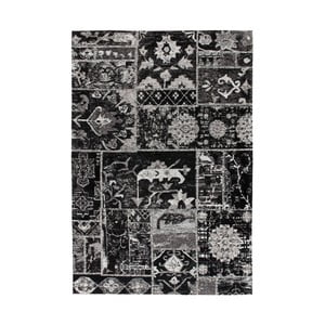 Čierny vzorovaný koberec Kayoom Memorial, 80 x 150 cm