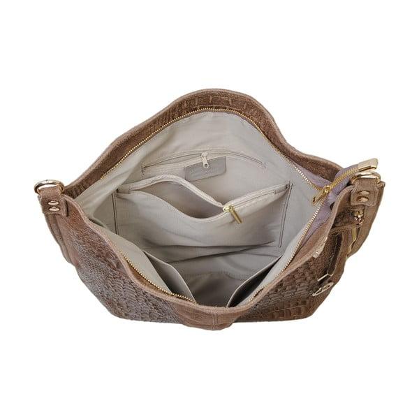 Svetlohnedá kožená kabelka Andrea Cardone 2011