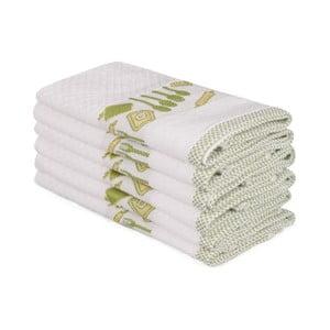 Sada 6 béžových bavlnených uterákov Beyaz Pantojo, 30×50 cm