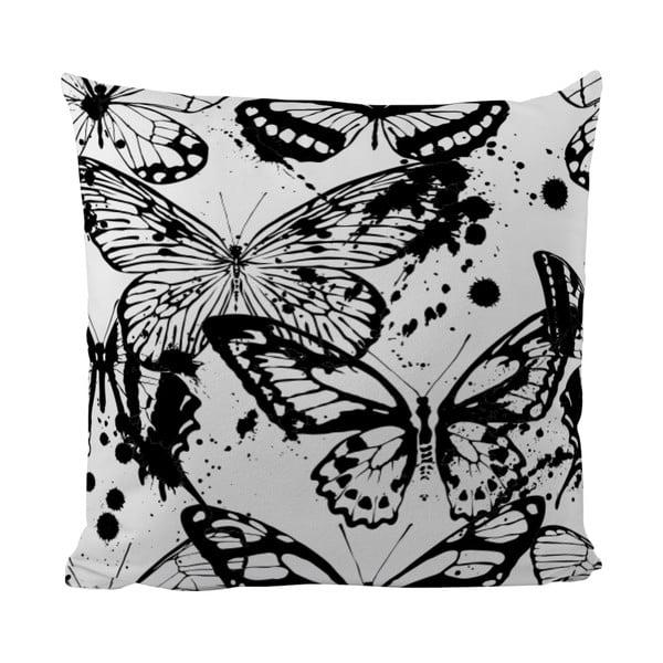 Vankúšik Black Shake Butterflies, 50x50 cm