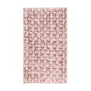 Kúpeľňová predložka Origami Light Pink, 60x100 cm