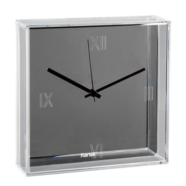 Sivé nástenné hodiny Kartell Tic Tac