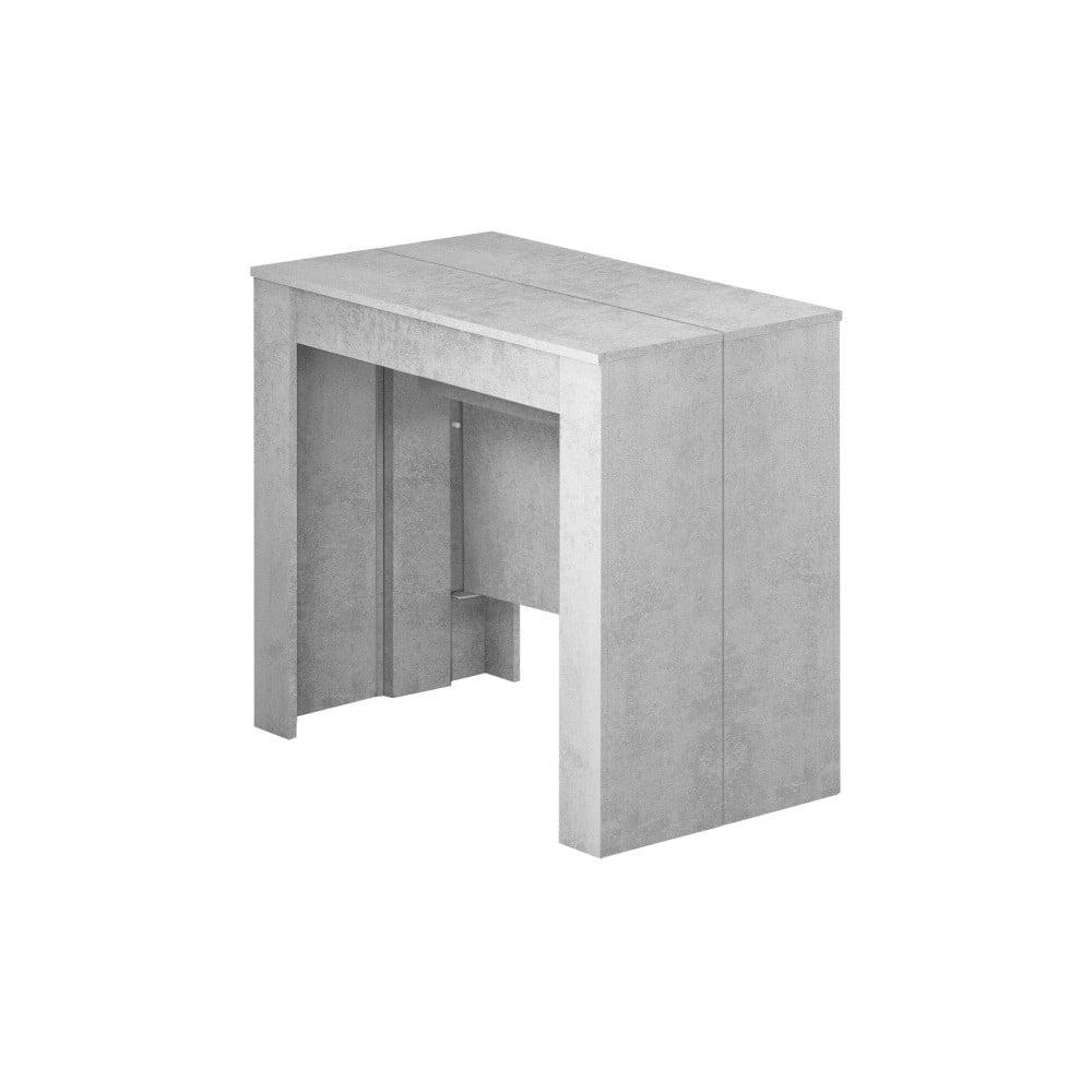 Sivý rozkladací konzolový stôl Evergreen Houso Work