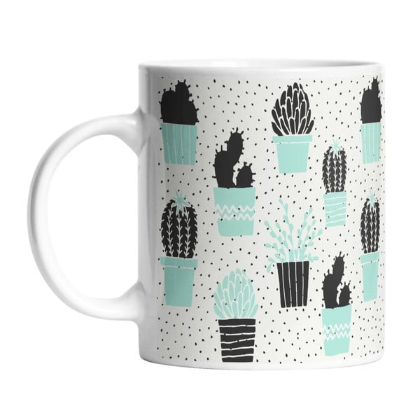 Keramický hrnček Cactus Planting, 330 ml