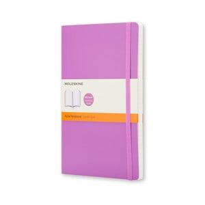 Fialový zápisník Moleskine Soft, malý, linkovaný