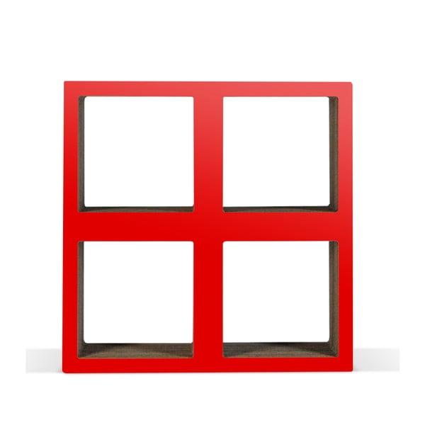 Malá kartónová knižnica Bit Square Red