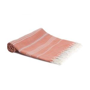 Hammam osuška z ručne tkanej bavlny ZFK Sondre, 180 x 100 cm
