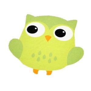Koberec Owls - zelená sova, 66x66 cm