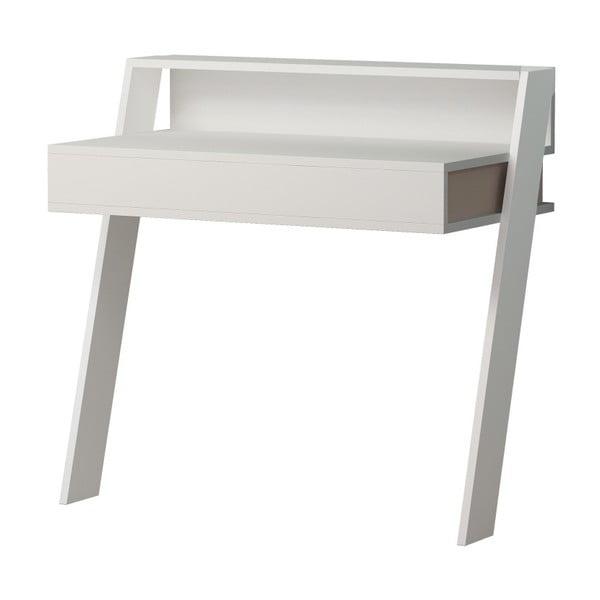 Biely pracovný stôl Homitis Cowork