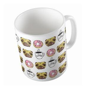 Keramický hrnček Butter Kings Coffee Time With Pug, 330 ml