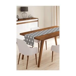 Behúň na stôl z mikrovlákna Minimalist Cushion Covers Grey Stars, 45×145 cm