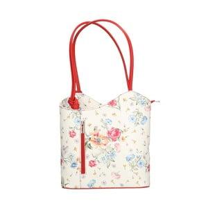 Kožená kabelka s červenými detailmi Chicca Borse Paraya