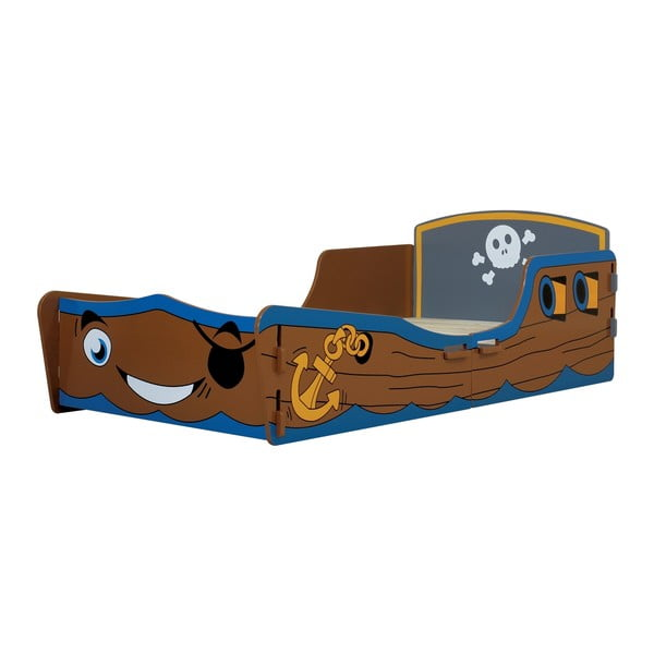 Detská posteľ Pirate Junior, 147x78x53 cm