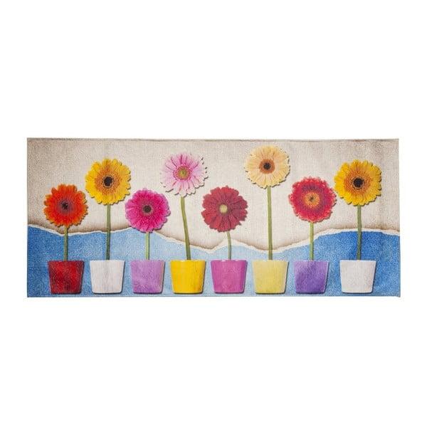 Vysokoodolný kuchynský koberec Spring, 60x300 cm