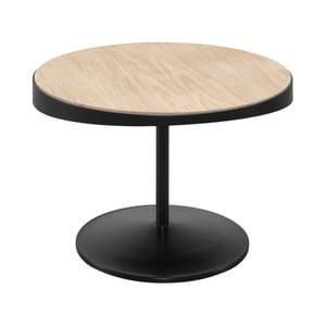 Odkladací stolík s doskou z dubového dreva Wewood - Portugues Joinery Drop, Ø 60 cm