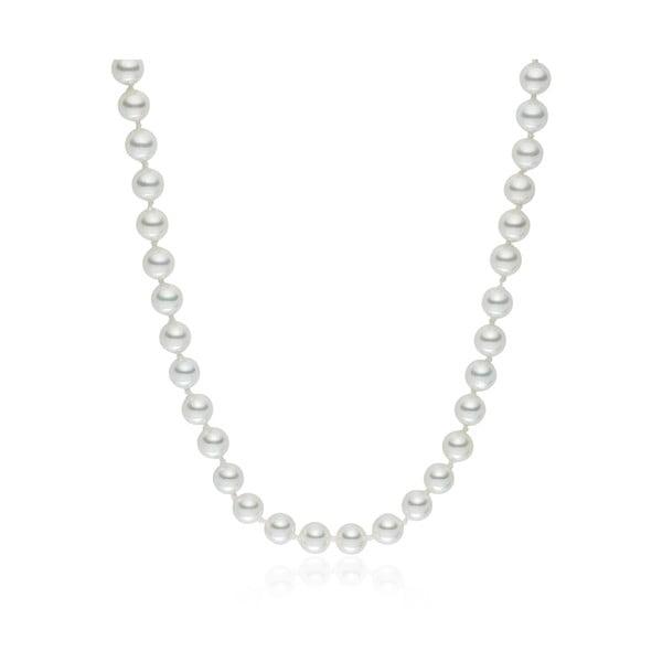 Biely perlový náhrdelník Pearls Of London, 50 cm