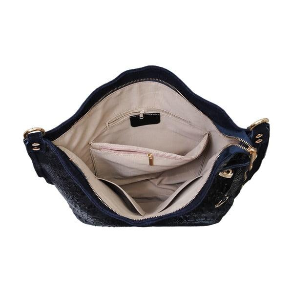 Tmavomodrá kožená kabelka Andrea Cardone Edvige