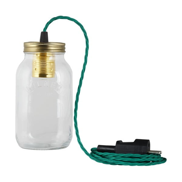Svietidlo JamJar Lights, zelenomodrý zakrútený kábel
