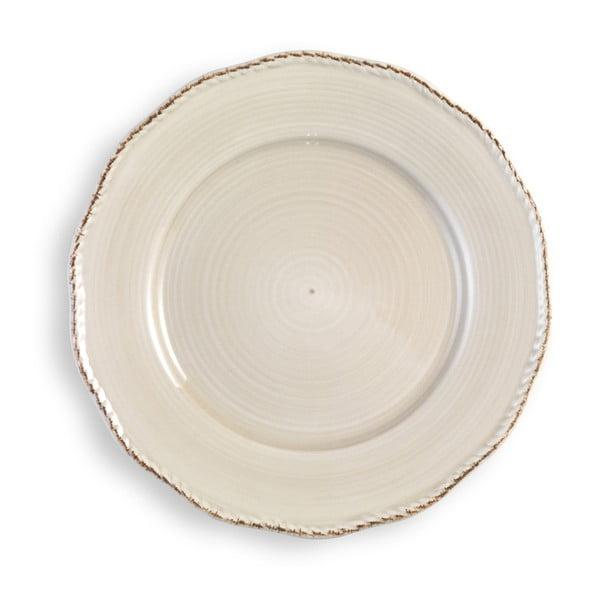 Veľký krémový tanier Brandani