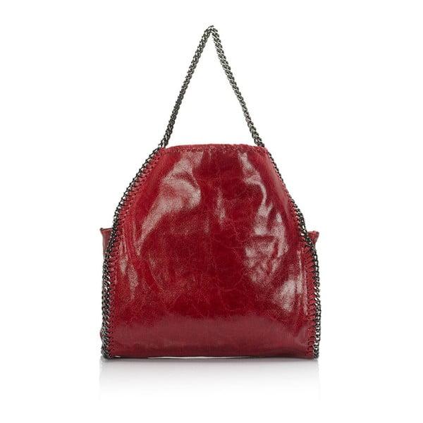 Kožená kabelka Markese 126 Bordo