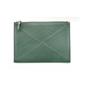 Taška cez rameno/listová kabelka Cut Out, zelená